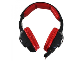 APPROX APPGH10 Gaming Headset (40mm stereo reproduktor, 2m kábel, USB LED) čierny-červený