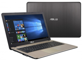Asus X540LA-XX538D notebook, fekete + McAfee Internet Security