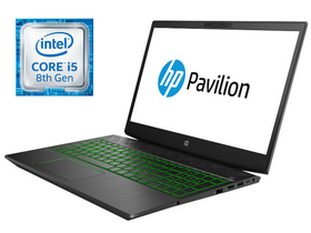 HP Pavilion 15-CX0000NH 4TU87E FHD notebook, fekete