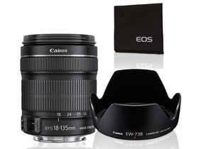 Canon 18-135/F3.5-5.6 EF-S IS STM objektiv+ starter kit