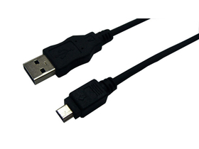 LogiLink USB Kábel, USB 2.0, AM - Mini 5PM, 1,8m