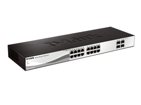 D-Link 20-Port 10/100/1000 Mbps Gigabit Smart+ Switch 4 SFP porttal (DGS-1210-20)