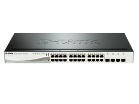 D-Link 24-Port 10/100/1000 Mbps Gigabit PoE Smart Switch 4 SFP porty (DGS-1210-24P)