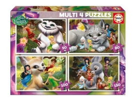 Educa Disney Tinker Bell Puzzle, 4 in 1