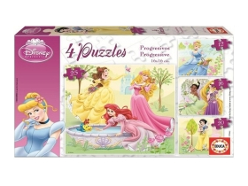 Puzzle Educa Disney Princess, 4 in 1