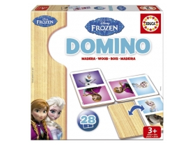 Educa Disney Frozen drveni domino, 28 komada