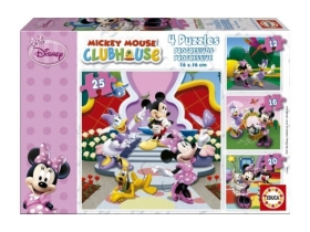 Puzzle Educa Disney Minnie Mouse and friends, 4 in 1