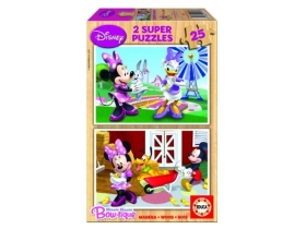 Puzzle Educa Disney Minnie Mouse, lemn, 2x25 buc.