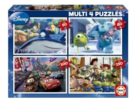 Puzzle Educa Disney Pixar heroes, 4 in 1