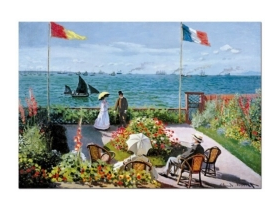 Puzzle Educa Monet, Sainte-Adresse terrace, 2000 buc.
