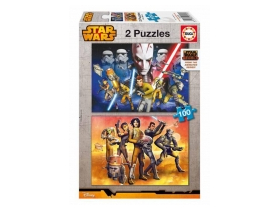 Educa Star Wars Rebels Puzzle, 2x100 teilig