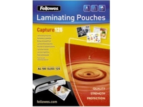 Folie laminat lucios Fellowes 54x86 mm, 125 microni