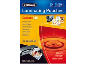Fellowes 75x105 mm lesklá laminovaná fólia, 125 mikron