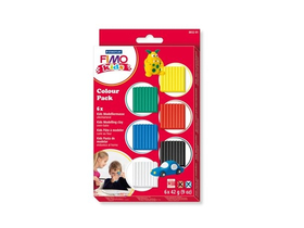 "Set plastilină Fimo ""Kids Color Pack"", se coace, 6 culori de bază (8032 01)"