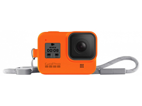 GoPro seeve + lanyard (HERO8 Black) hyper orange (AJSST-004)