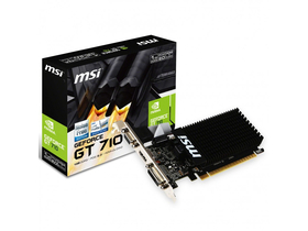 Placa video MSI nVidia GT 710 1GB DDR3  - GT 710 1GD3H LP