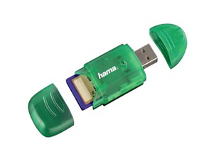 Card reader Hama 6 in 1 SDHC/SDXC, verde