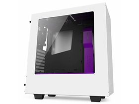 Carcasa  PC NZXT S340 Matte Mid Towe, alb-mov
