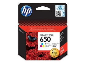 Cartuş cerneală tricolor HP 650 Ink Advantage (CZ102AE)