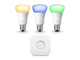 Philips hue 10W E27 žarulje u boji (3db) + bridge