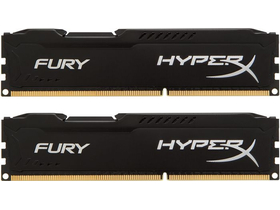 HyperX Fury Black 16GB 1600MHz DDR3 memória kit (HX316C10FBK2/16)