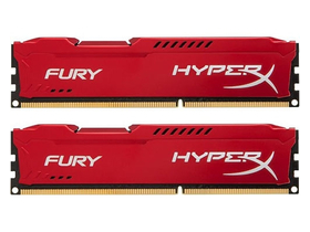 HyperX Fury Red 16GB 1600MHz DDR3 memória kit (HX316C10FRK2/16)