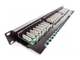 KE-Line Giga kompakt 24port CAT5E patch panel RJ45/u(KE606030)