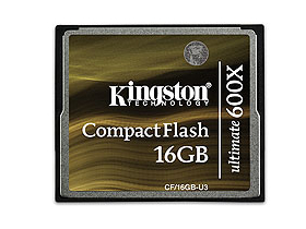 Kingston Compact Flash карта 16GB Ultimate 600x