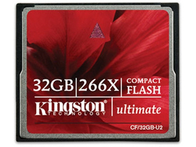 Kingston Compact Flash kártya 32GB Ultimate 266x