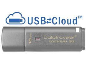 Kingston DataTraveler Locker+ G3 (DTLPG3/16GB) USB 3.0 16GB pendrive s kovovým krytom
