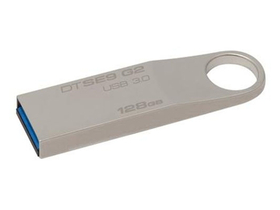 Kingston DataTraveler SE9 (DTSE9G2) 128GB Metallgehäuse USB-Stick, Silbern