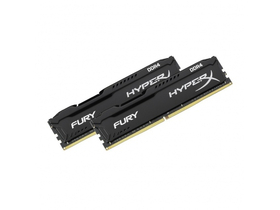 HyperX Fury Black DDR4 16GB (2x8GB) 2666MHz memorija kit (HX426C16FB2K2/16)