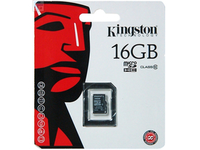 Kingston Secure Digital Micro 16GB SDHC Class10 UHS-I