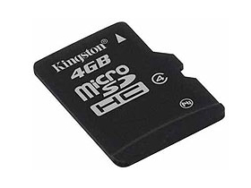 Kingston microSDHC kártya 4GB Class4 + SD adapter
