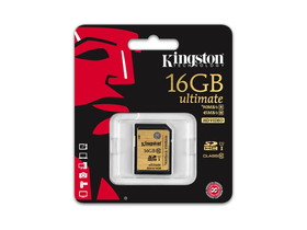 Kingston SDHC kártya 16GB Class10 UHS-I Ultimate