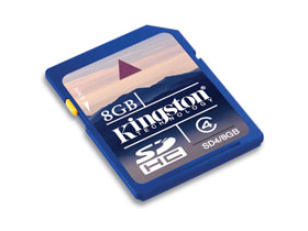 Kingston Secure Digital 8GB SDHC Class4