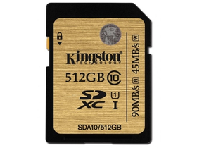 Card de memorie Kingston SDXC  512GB Class10 UHS-I 90R/45W