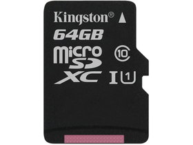 Kingston Secure Digital Micro 64GB SDXC Class10 Single Pack w/o adapter
