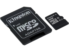 Kingston Secure Digital Micro 8GB SDHC Class10 memóriakártya + SD adapter
