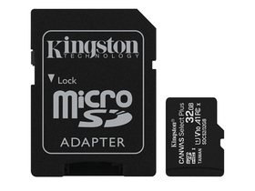 Kingston Canvas Select Plus 32GB MicroSDHC paměťová karta, + SD adaptér, class 10