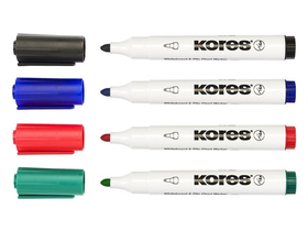 "Marker Kores ""Marka"" 3-5 mm, conic, 4 culori"