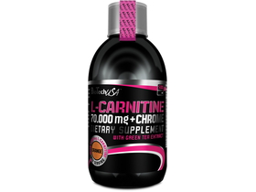 BioTech USA L-Carnitine + Chrome, 500 ml, energizáló, narancs ízű