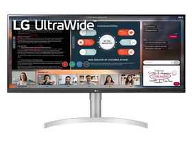 "LG 34WN650-W 34"" UltraWide FullHD IPS LED Monitor (IPS; 21:9; 2560x1080; 5ms; 1000:1; 400cd; HDMIx2; DP; HDR™400; Spkr;"