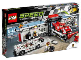 LEGO® Speed Champions Porsche 919 Hybrid  and 917K Pit Lane  75876