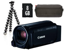 Canon LEGRIA HF R87 video kamera Premium kit (Canon torba, 8GB SD, tripod)