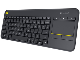 Tastatură Logitech Wireless Touch Keyboard K400 Plus Black, layout HU