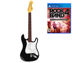 Mad Catz Rock Band 4 Band Wireless Fender™ Stratocaster™ PS4 bundle, fekete