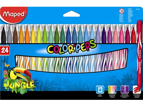 "Liner Maped ""Color`Peps Jungle"", 24 culori diferite"