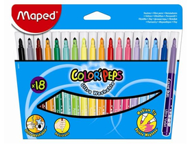 Maped COLOR`PEPS omyvatelný fix, 18 ks / box