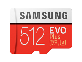 Samsung EVO Plus 512GB microSDXC UHS-I U3 100MB/s Full HD & 4K UHD Memóriakártya adapterrel (MB-MC512GA)